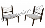 PIERRE JEANNERET DEMOUNTABLE CHAIRS