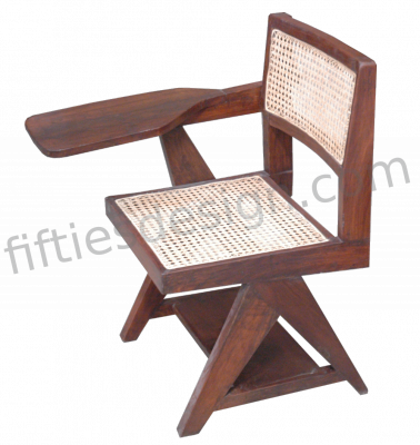 PIERRE JEANNERET WRITING CHAIR WITH CANE
