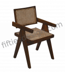 PIERRE JEANNERET CANE SEAT CHAIR