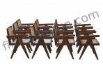 PIERRE JEANNERET Exceptional Set of 12 Amchairs